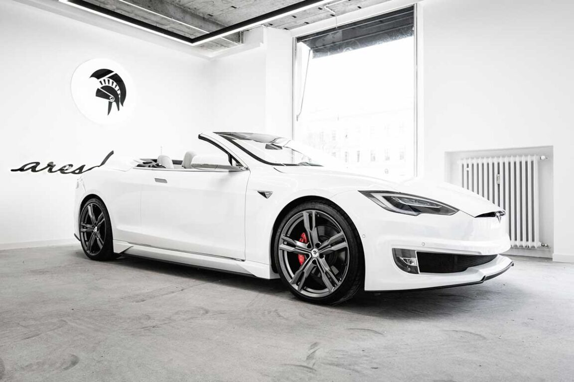 Tesla Model S convertibile by Ares Design