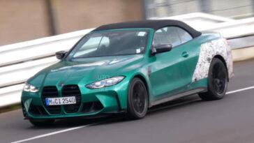 BMW M4 cabrio 2022: le prime immagini della berlina in pista