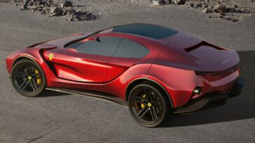 E se il SUV Ferrari fosse come questo render?