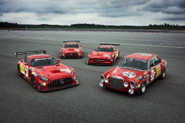 Mercedes presenta una versione speciale di SLS GT3 con livrea storica chiamata