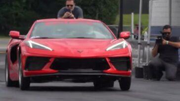 Questa Corvette C8 da 1350 cv percorre il quarto di miglio in 9 secondi