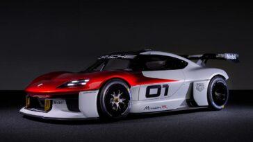 Porsche Mission R: l'elettrica da corsa da 1100 cv